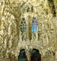 The Nativity scene, Nativity Facade Basilica de la Sagrada Familia Barcelona Spain